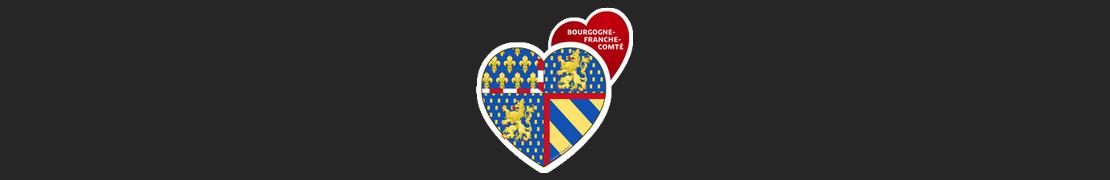 Coeur d'immat™ Bourgogne-Franche-Comté - Autocollants Coeur j'aime