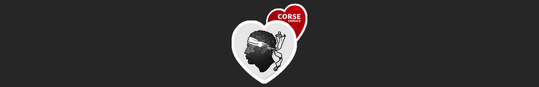 Coeur d'immat™ Corse - Stikers autocollants Coeur j'aime
