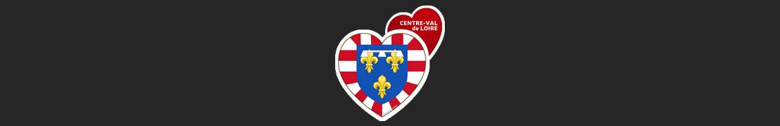 Coeur d'immat™ Centre-Val de Loire - Stikers autocollants Coeur j'aime