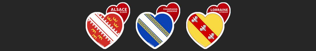 Coeur d'immat™ Grand Est - Stikers autocollants Coeur j'aime