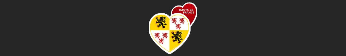 Coeur d'immat™ Hauts-de-France - Stikers autocollants Coeur j'aime
