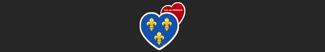 Coeur d'immat™ Ile-de-France - Stikers autocollants Coeur j'aime