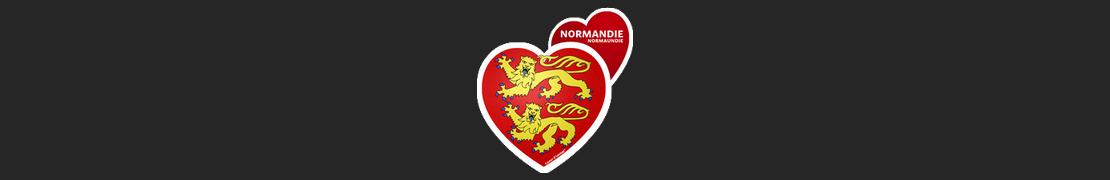 Coeur d'immat™ Normandie - Stikers autocollants Coeur j'aime