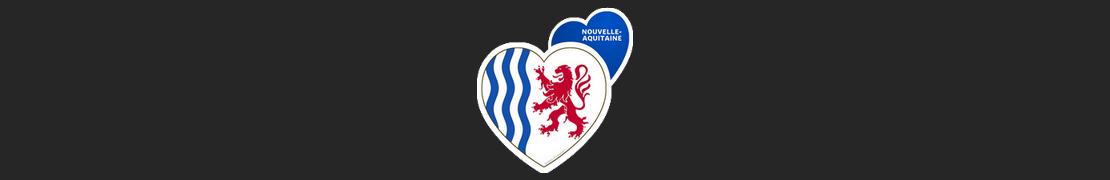Coeur d'immat™ Nouvelle-Aquitaine - Stikers autocollants Coeur j'aime