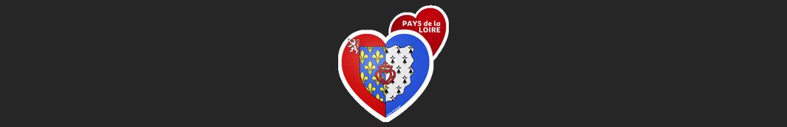 Coeur d'immat™ Pays de la Loire - Stikers autocollants Coeur j'aime