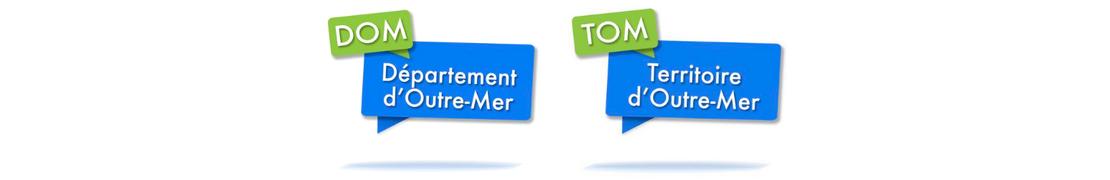 Coeur d'immat™ DROM-COM Dom-Tom - Autocollants Coeur j'aime