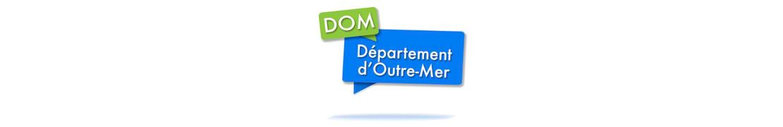DROM (Dom) - Autocollants & plaques d'immatriculation