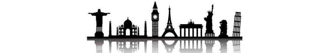 Villes dans le Monde - Autocollants d'immatriculation